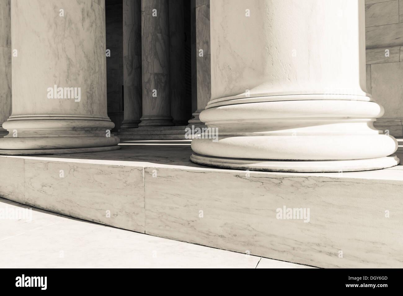 Pillars and Steps - Stock Image