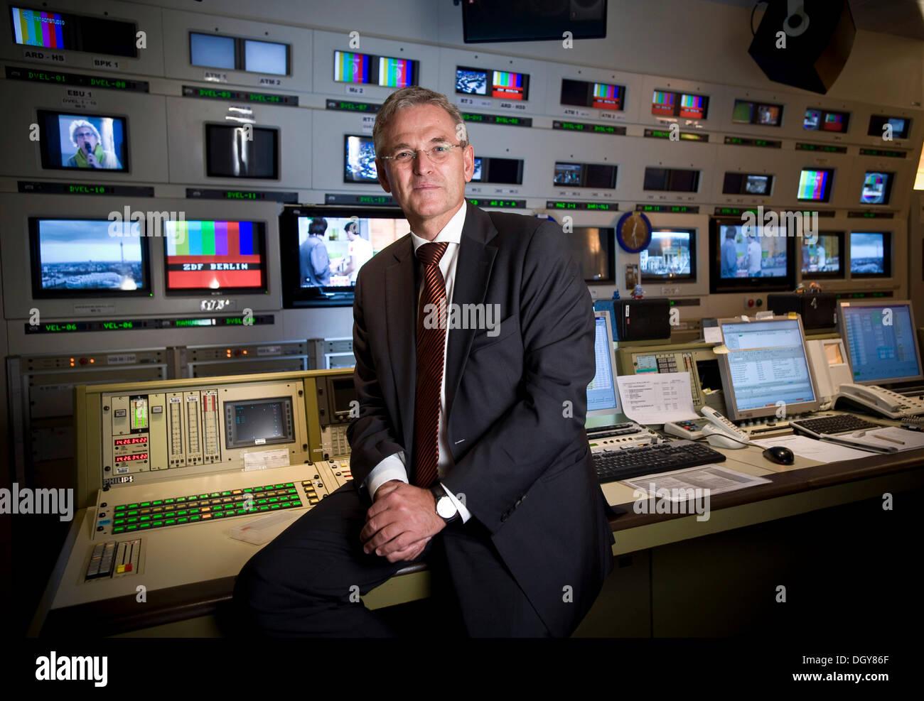 Peter Frey, ZDF director, Berlin - Stock Image