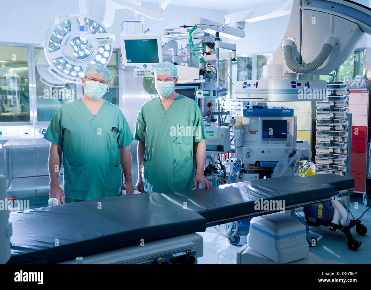 Hybrid operating room, Deutsches Herzzentrum Berlin or German cardiac center, Berlin - Stock Image