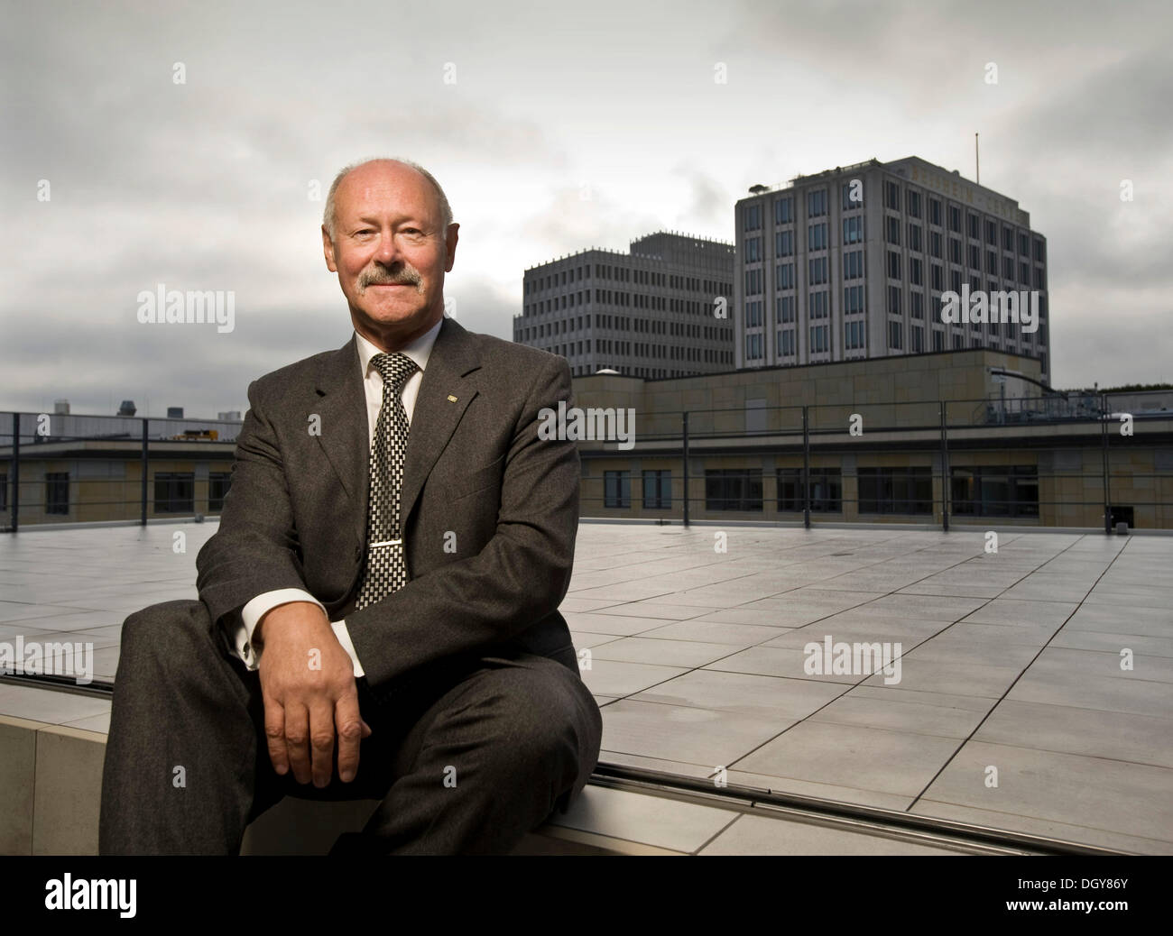 Karl-Heinz Boos, CEO of the Federal Association of Public Banks in Germany or VOeB, Berlin - Stock Image