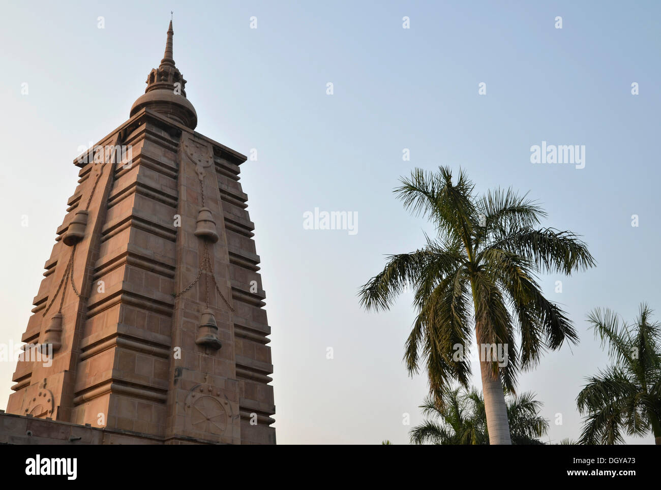 Kutti Vihar Temple, Mulagandha Kuti Vihara, Buddhist pilgrimage destination, Sarnath, Varanasi, Uttar Pradesh, India, - Stock Image