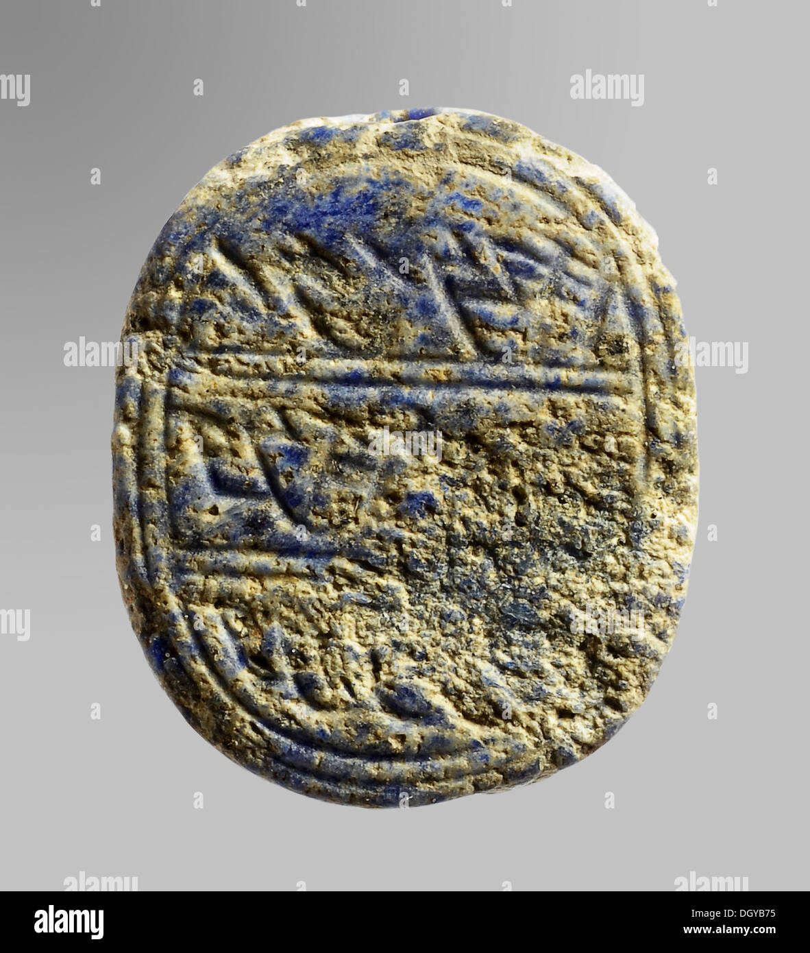 5589. Hebrew seal bearing the name ,Matanyahu' found in an structure dated to the King Solomon's Temple The semi precious stone made seal bears the inscription: 'To Matanyahu Son of Ho...' The name Matanyahu appears twice in Chronicles 1:25 - Stock Image