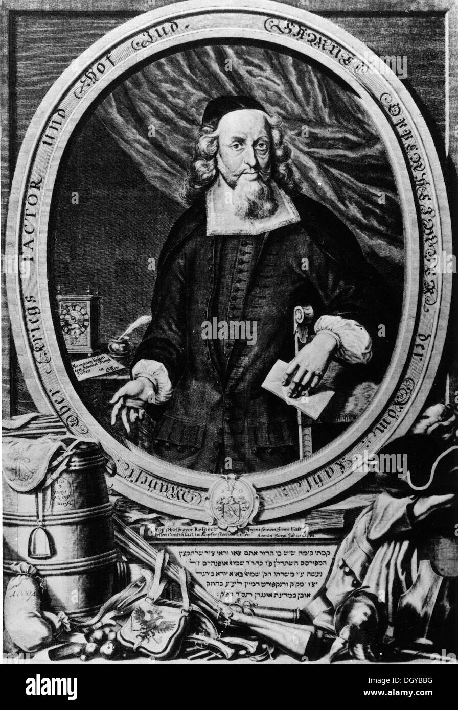 5663. Samuel Oppenheimer (1630, Heidelberg – 1703, Vienna) was a Jewish banker, imperial court diplomat, and military supplier for the Holy Roman Emperor. - Stock Image