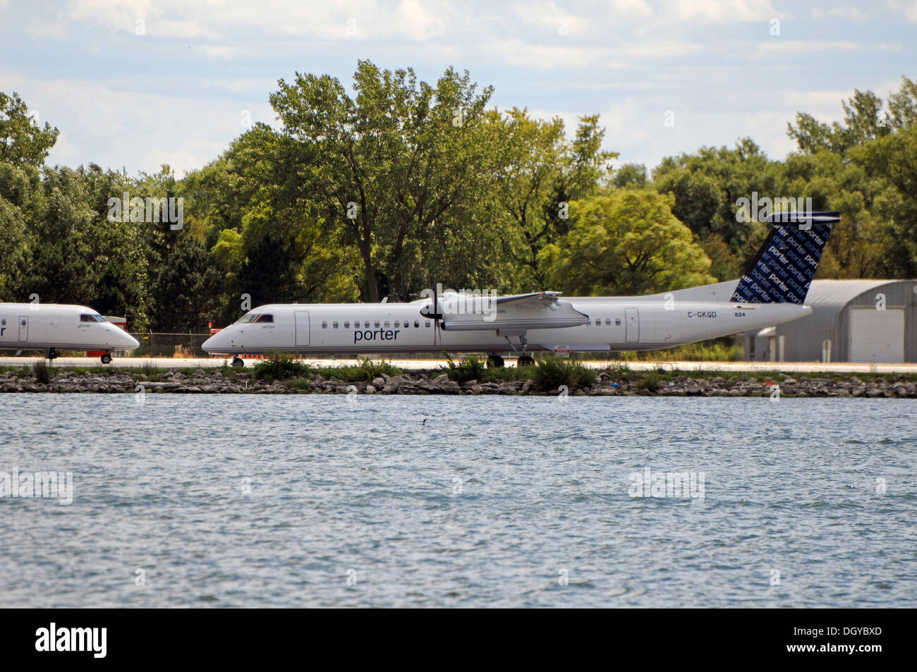 Porter airline,Toronto, Canada - Stock Image
