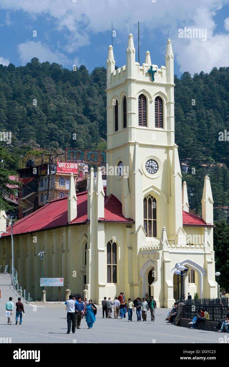 Christ Church, The Ridge, Shimla, Himachal Pradesh, North India, India, Asia - Stock Image