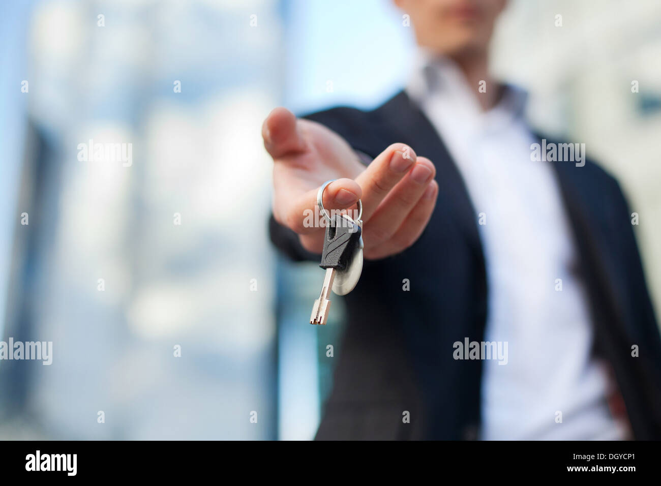 keys in the hand - Stock Image