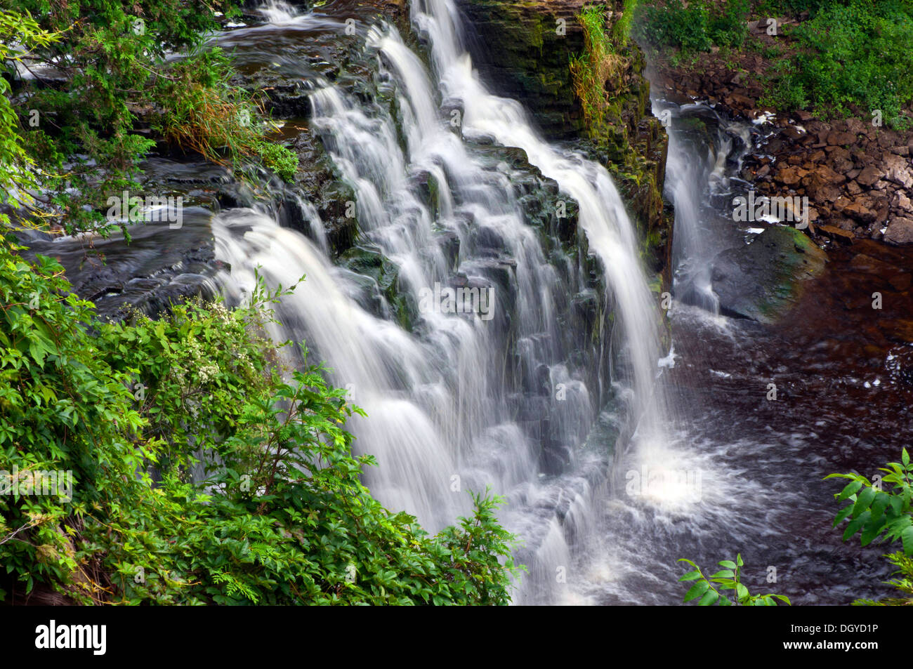 Waterfall, Bruce peninsula, Ontario, Canada - Stock Image