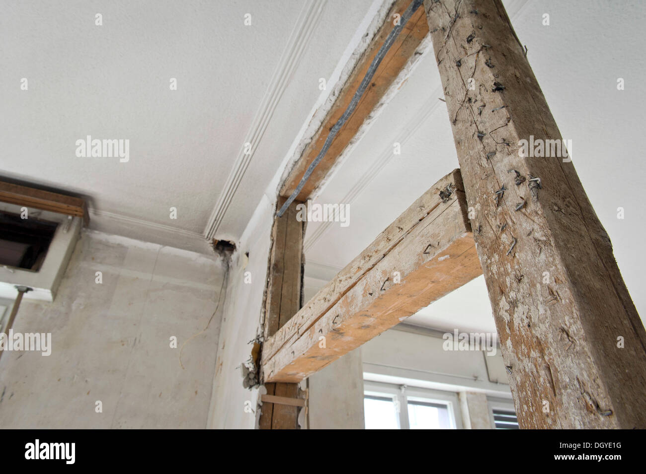 Half Timbered Construction With Wire Mesh For Fixing Plaster