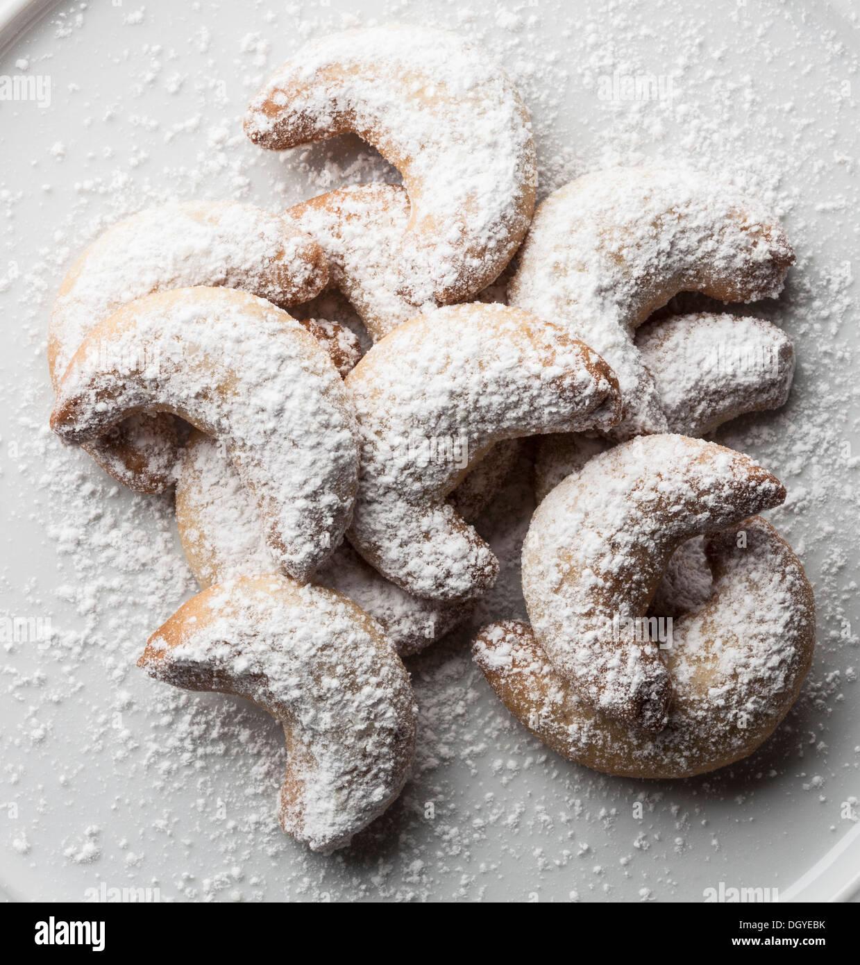 German vanilla biscuits (vanilla kipferl) - Stock Image
