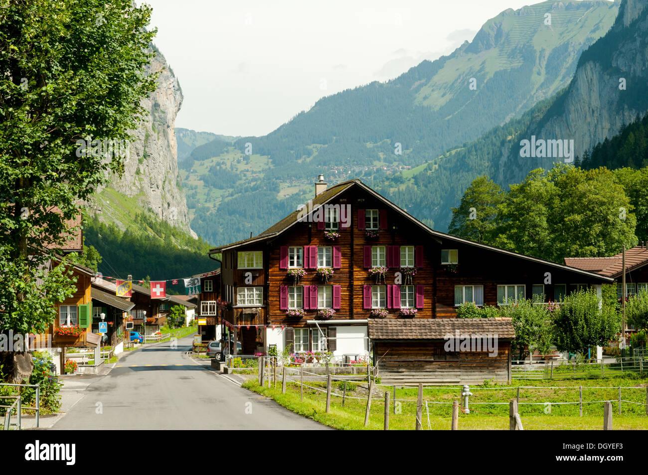 Stechelberg, Switzerland - Stock Image