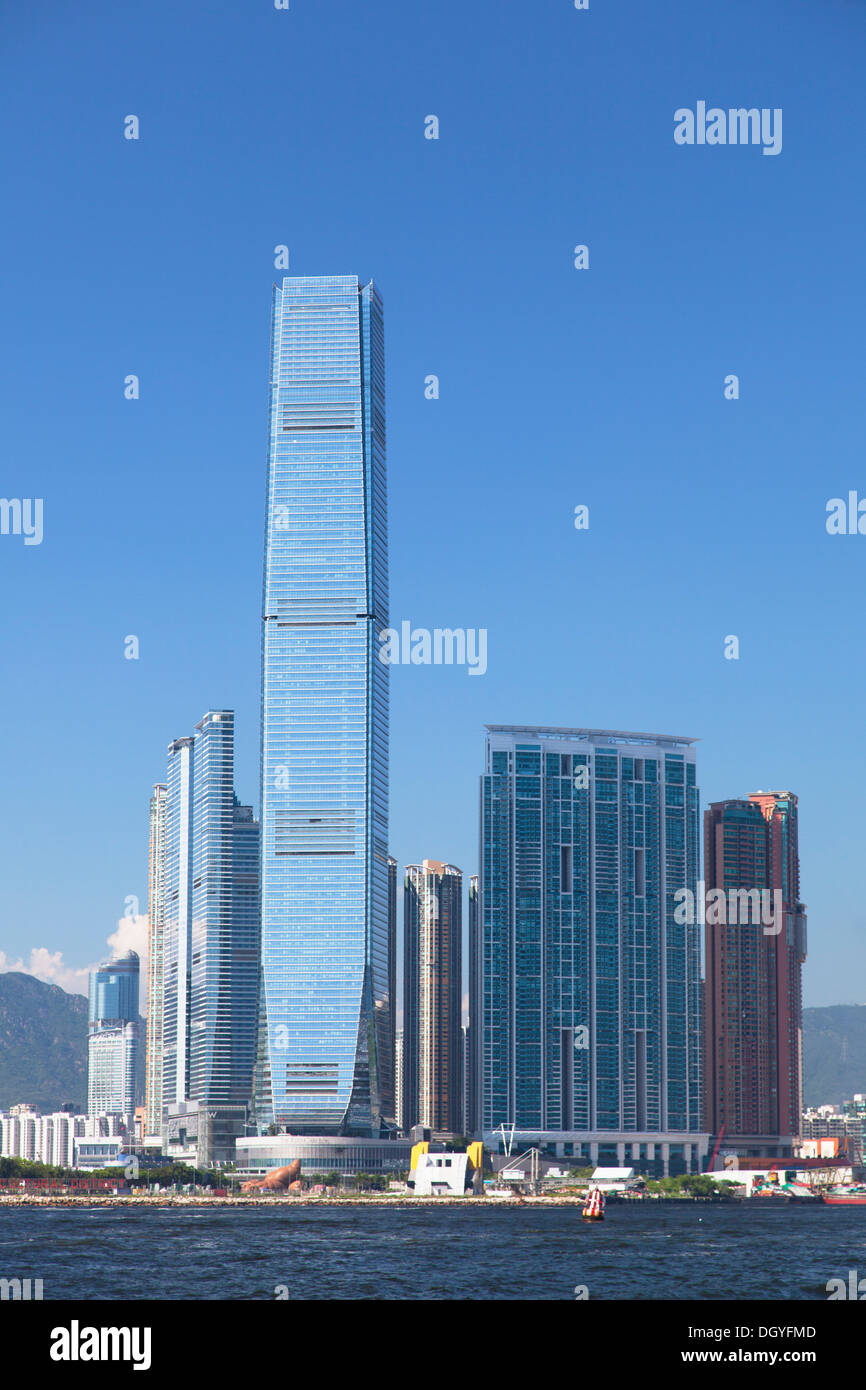 International Commerce Centre (ICC), West Kowloon, Hong Kong - Stock Image