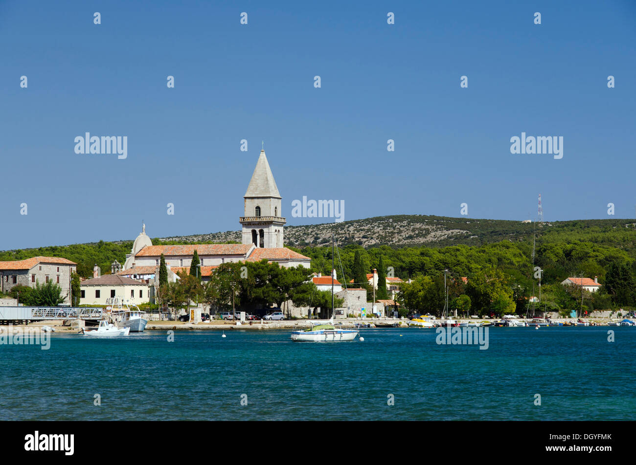 Church of Osor, Cres Island, Adriatic Sea, Kvarner Gulf, Croatia, Europe Stock Photo