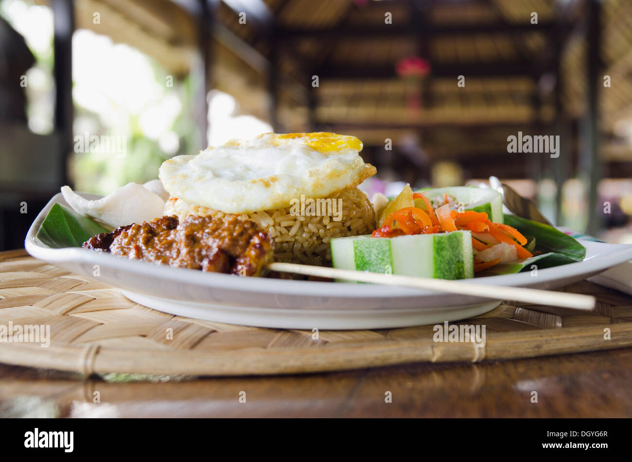 Nasi Goreng, Indonesian fried rice, Ubud, Bali, Indonesia - Stock Image