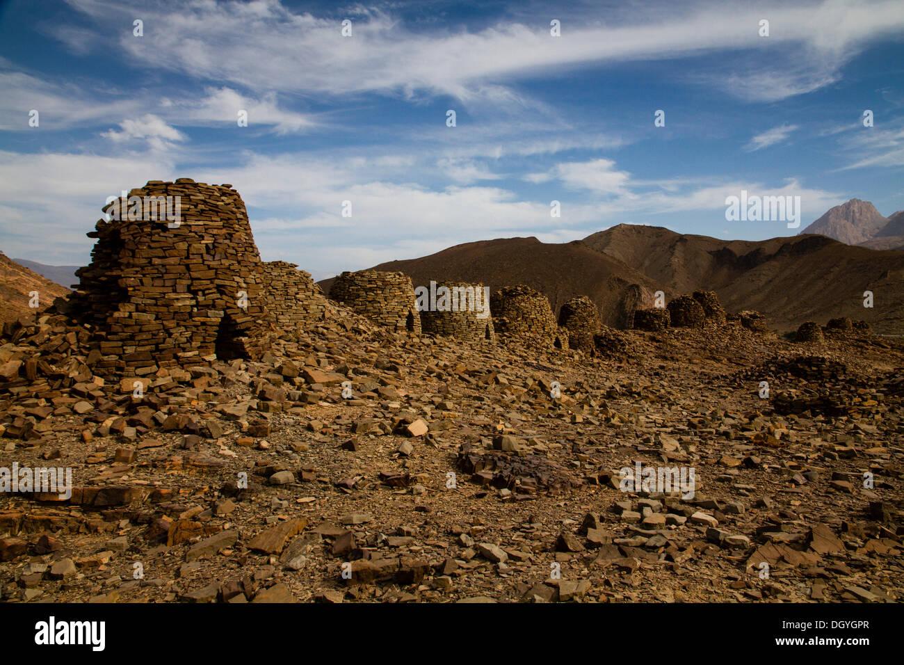 Archaeological site of Al-Ayn, UNESCO World Heritage site, Al-Ayn, Oman - Stock Image