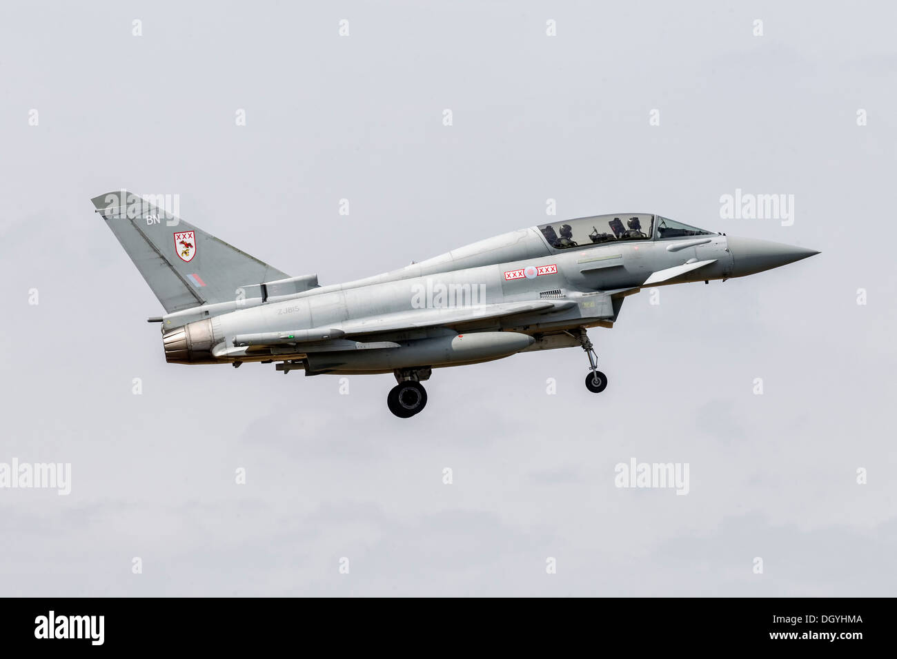 Bae systems Typhoon of the RAF - Stock Image