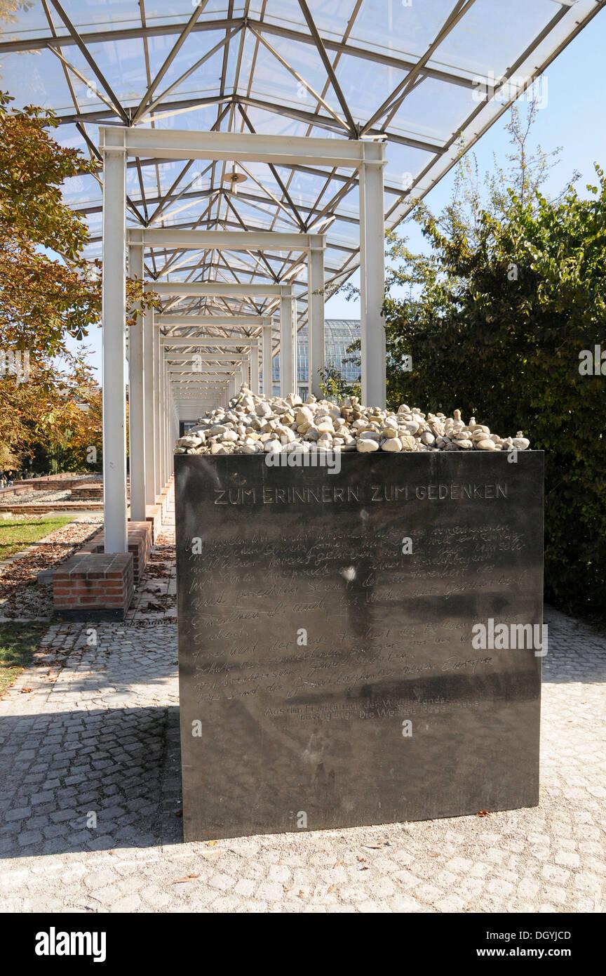 Zum Erinnern Zum Gedenken monument, Munich, Bavaria - Stock Image