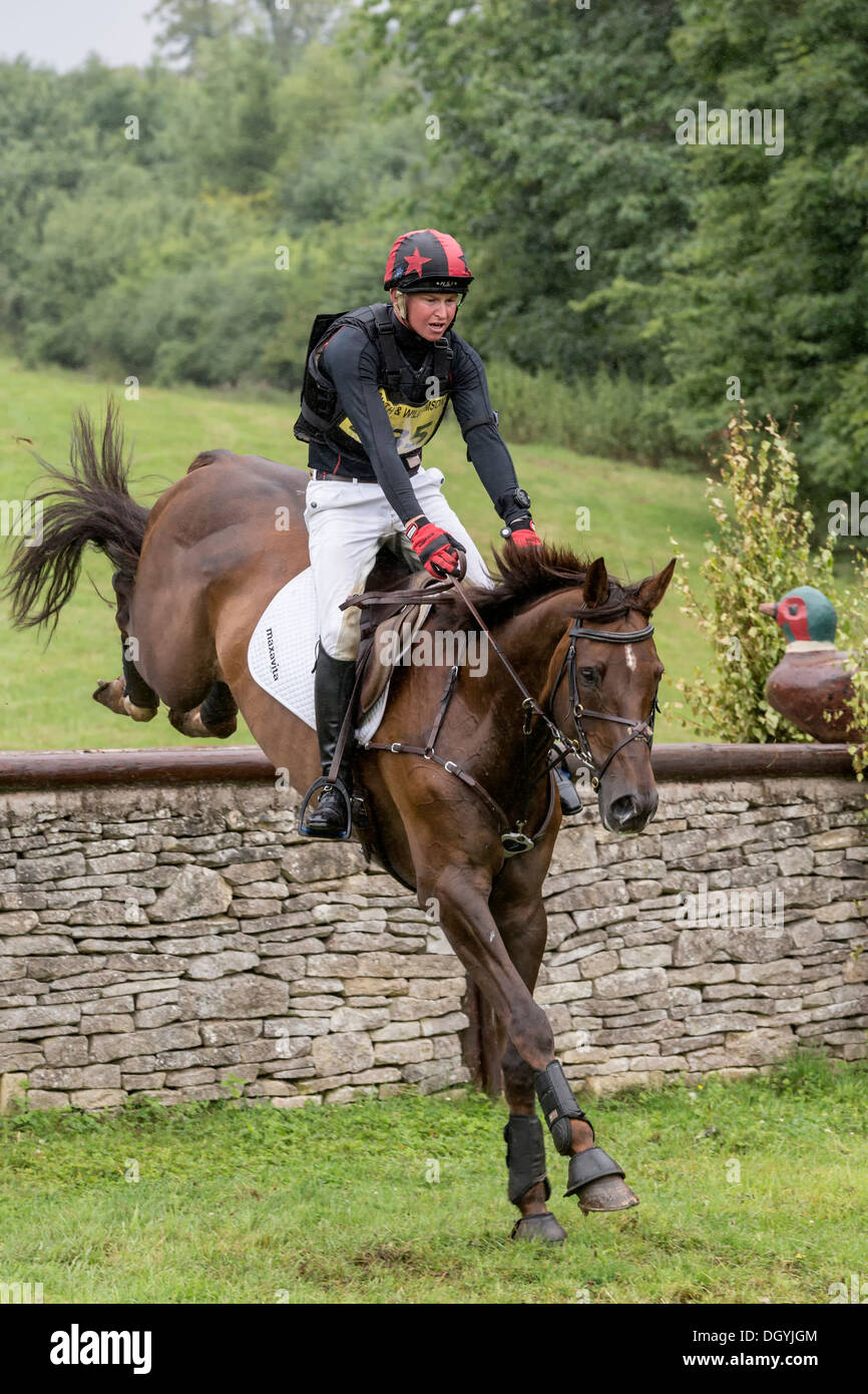 Mathew Heath on Lismore Lad at FBE 2013, Gatcombe Park Stock Photo