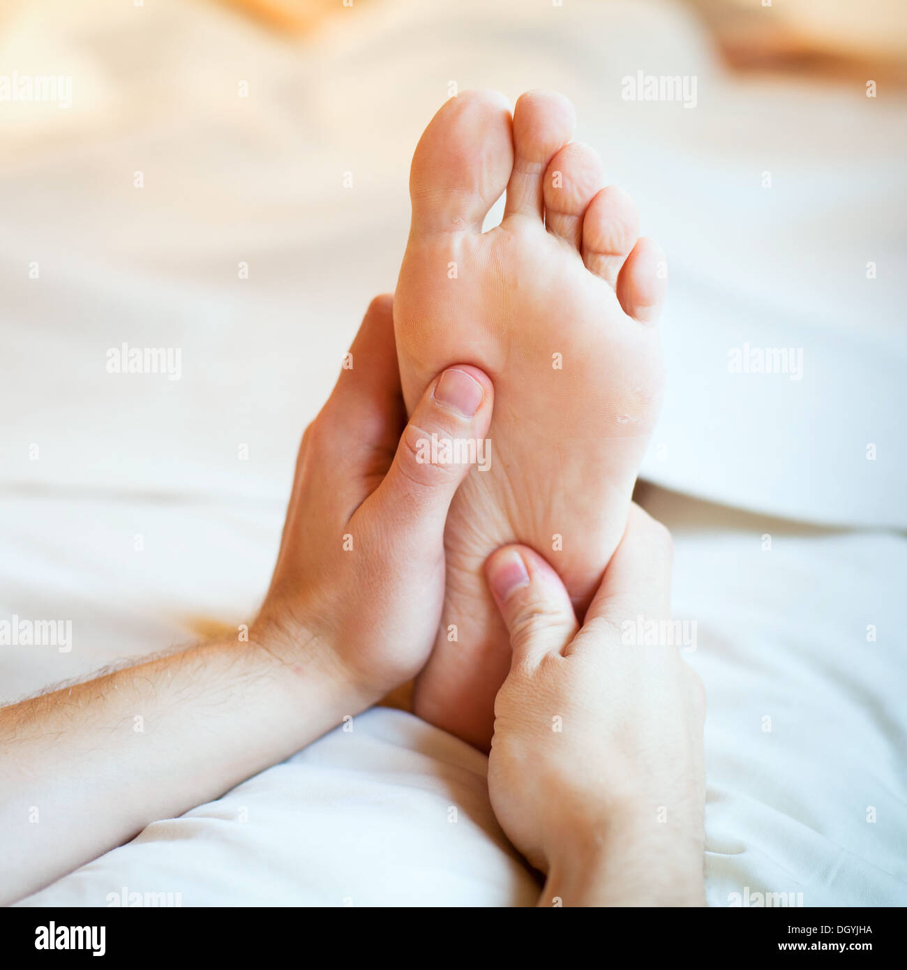 foot massage - Stock Image