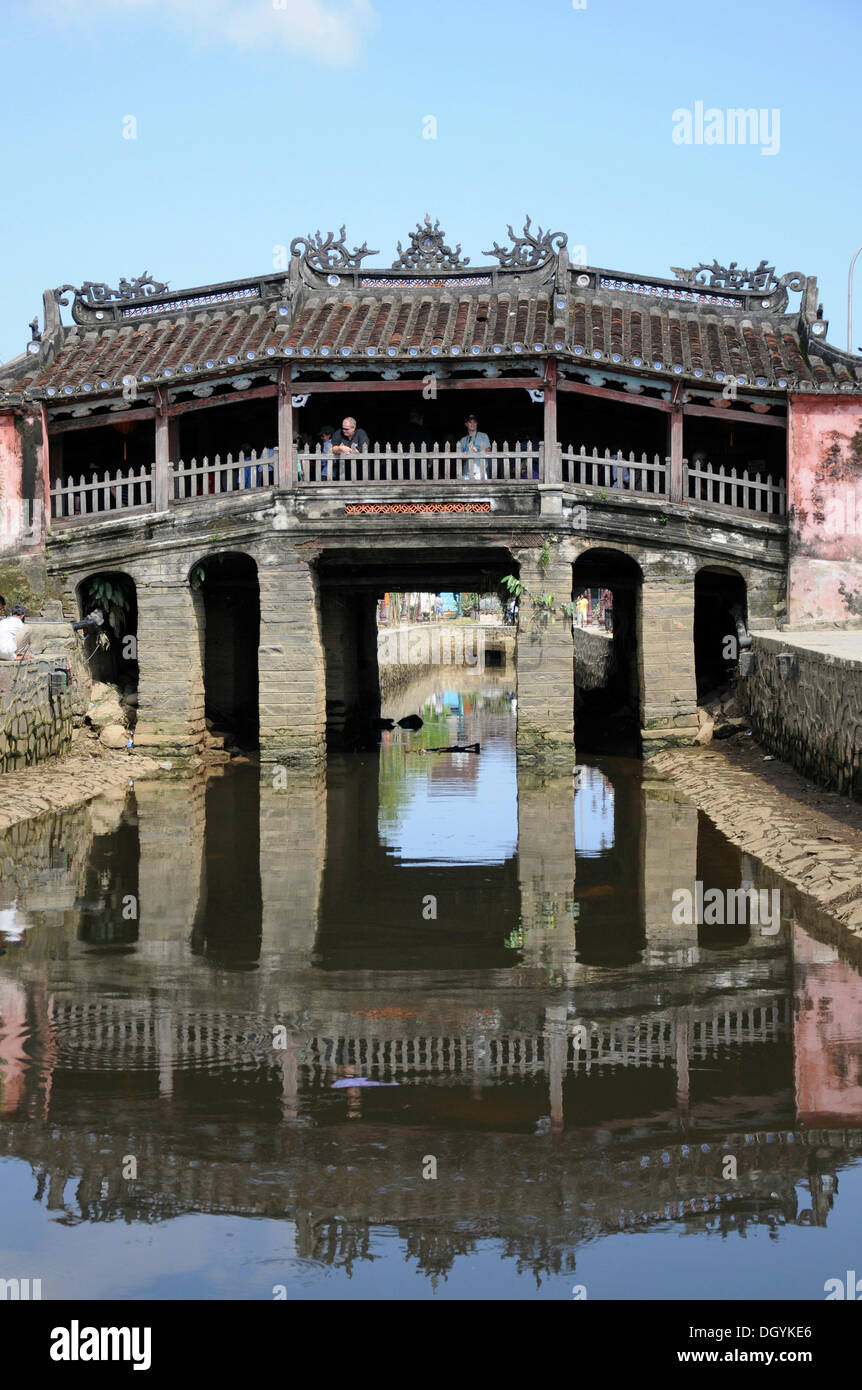 Japanese bridge, Chua Cau, Hoi An, Vietnam, Southeast Asia - Stock Image