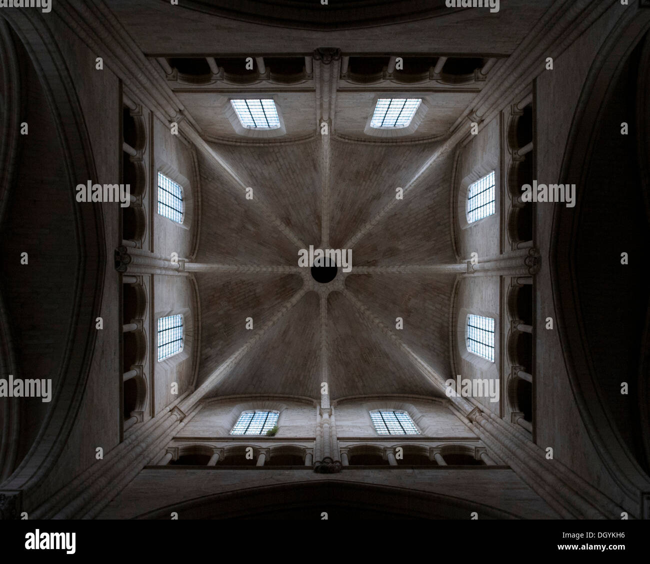 Cathedral Notre-Dame De Laon, Laon, France. Architect: Unknown, 1215. Stock Photo