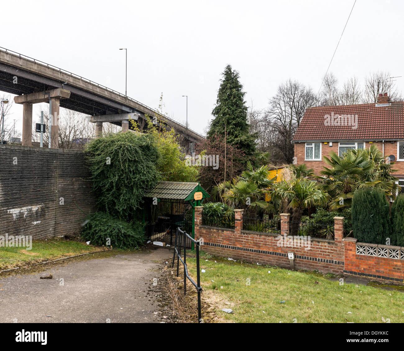 Spaghetti Junction (Gravelly Hill Interchange), Birmingham, United Kingdom. Architect: unknown, 1972. Stock Photo