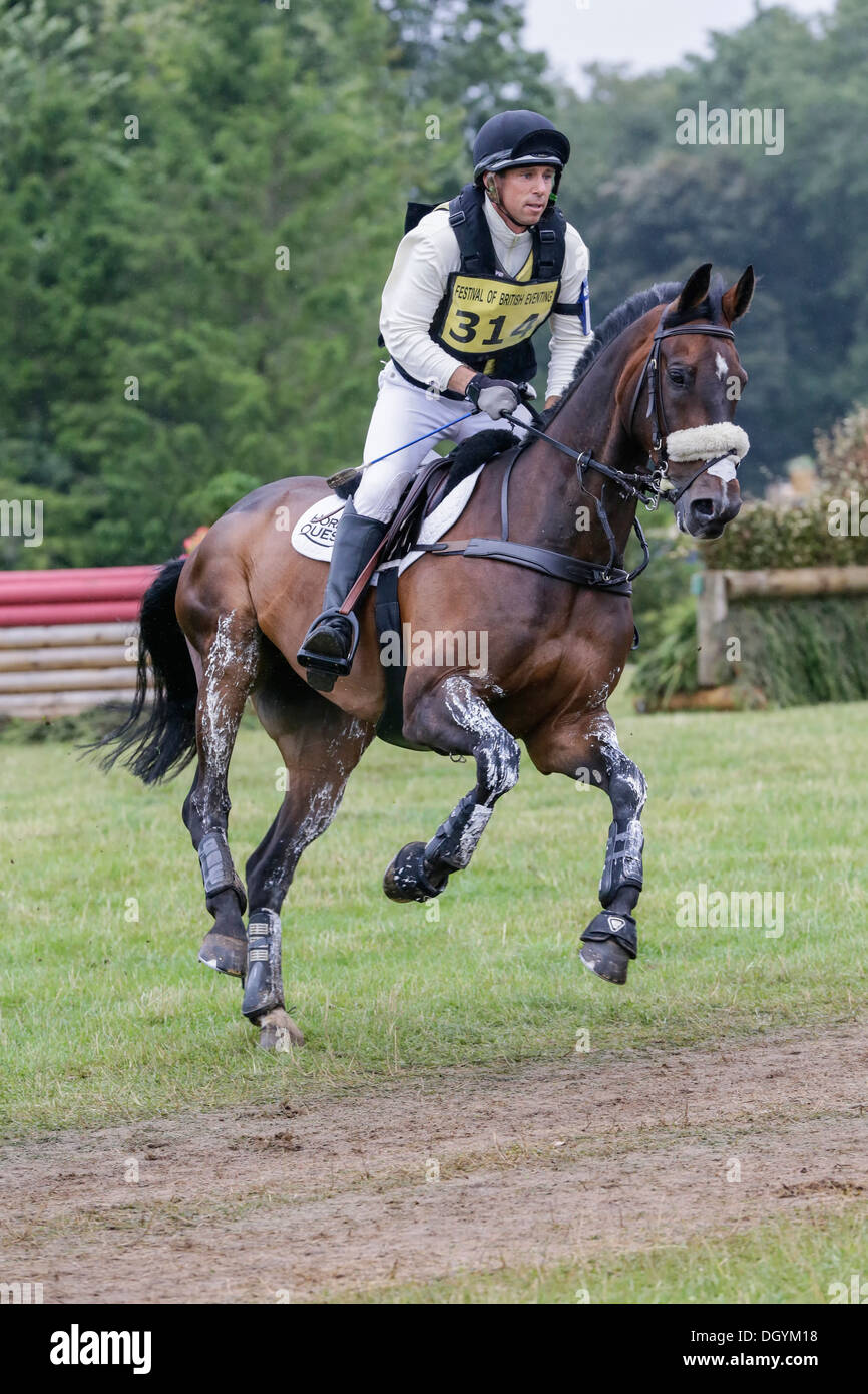 Sam Griffiths on Happy Times at the Festival of British Eventing - Gatcombe Park 2013 - Stock Image