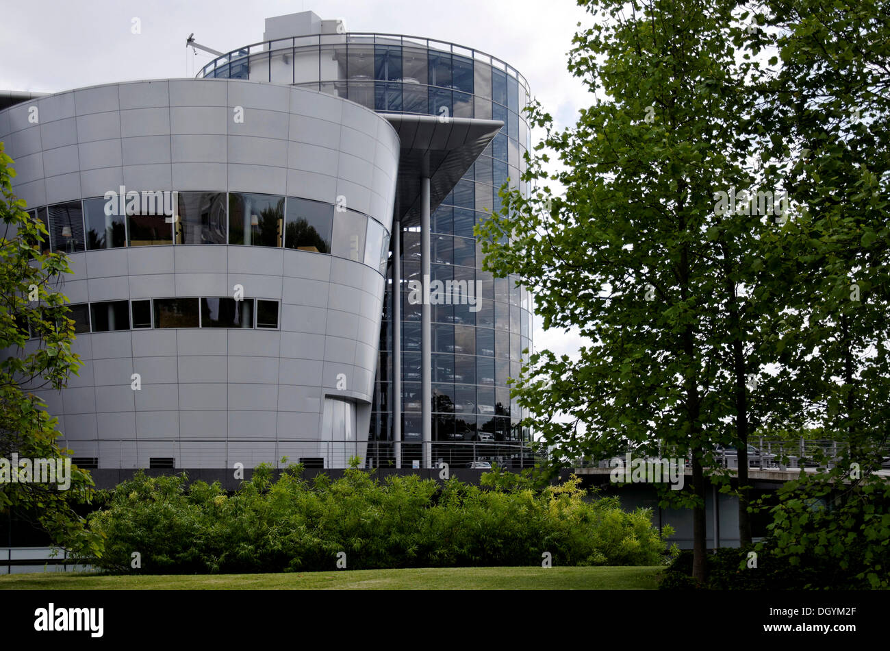 Transparent Factory, Volkswagen automobile plant, Dresden, Florence of the Elbe, Saxony - Stock Image
