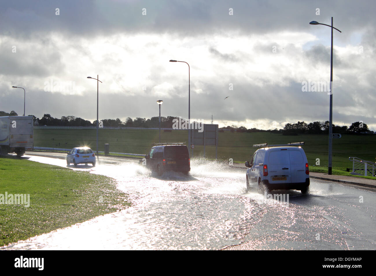 St Jude Storm Heavy Rain Has Caused Flooded Roads At Epsom Downs - Flooded roads map