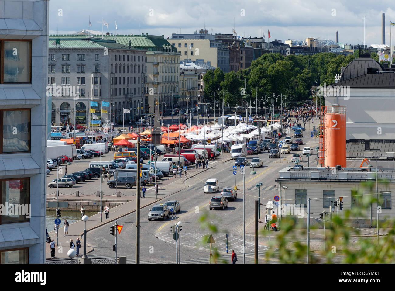 Market square, Kauppatori, Helsinki, Uusimaa, Finland - Stock Image