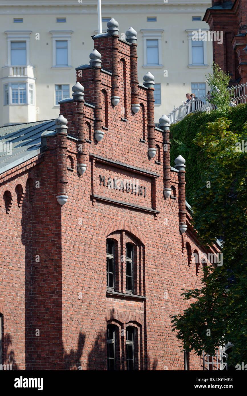Makasiini, warehouse building, Helsinki, Uusimaa, Finland - Stock Image