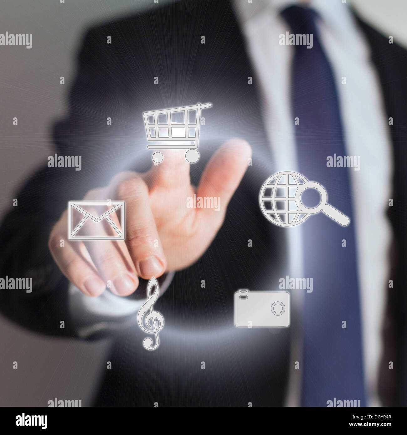 touch screen - Stock Image