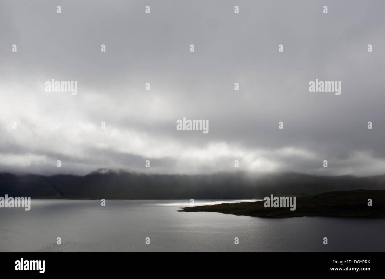 Isle of Mull, rain clouds - Stock Image