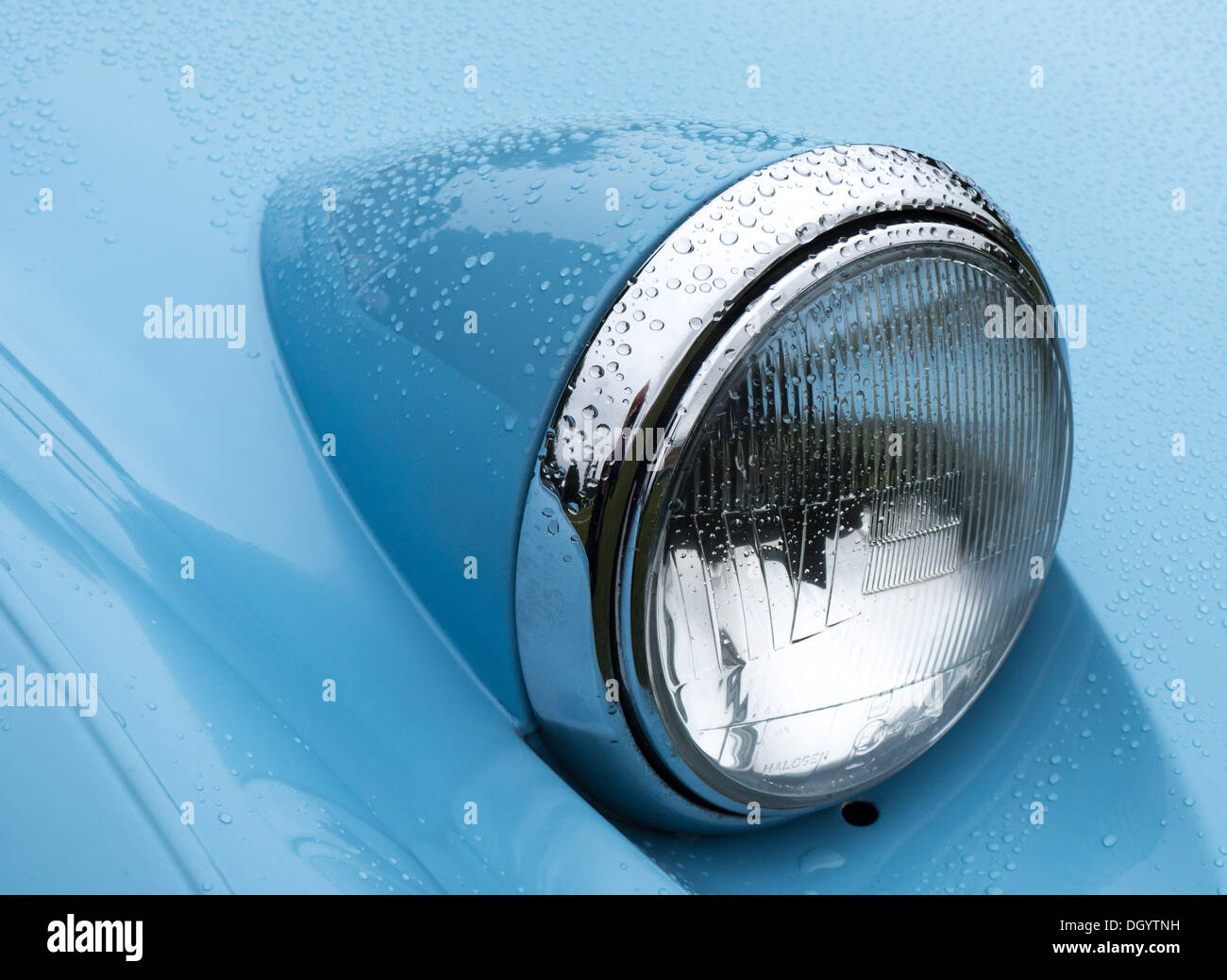 Austin Healey Frogeye Sprite headlight - Stock Image