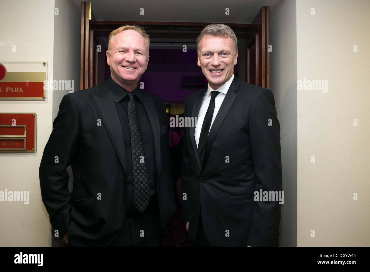 Alex McLeish (l) and David Moyes - Stock Image