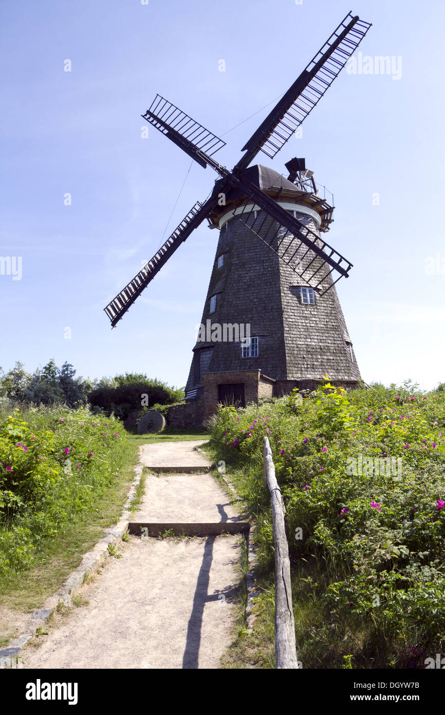 old wind mill of Benz - Stock Image