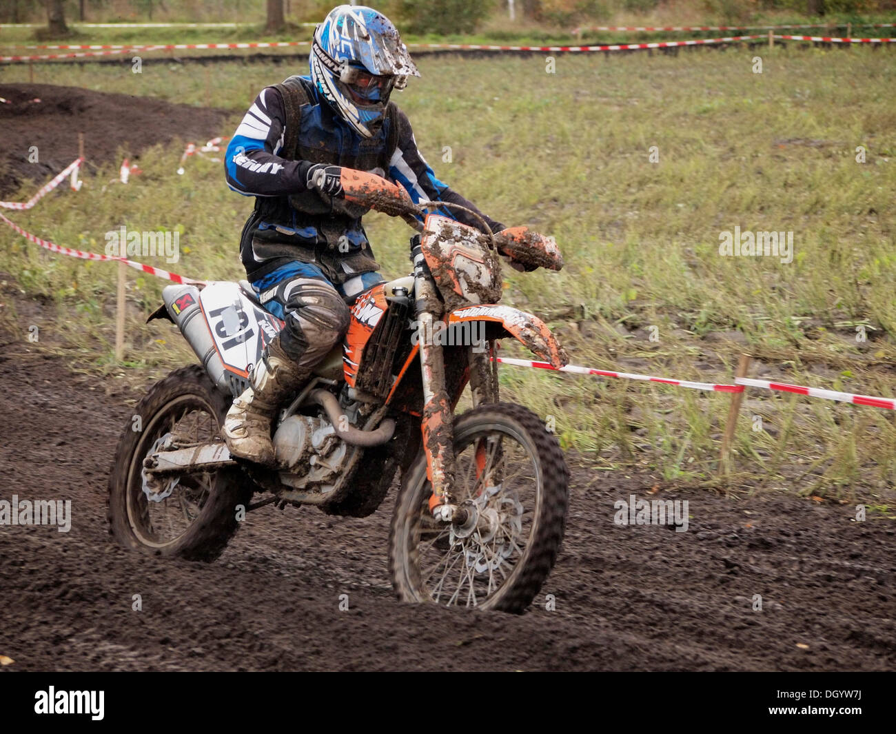 Recreational motocross rider on KTM motorcycle Ruurlo, the Netherlands - Stock Image