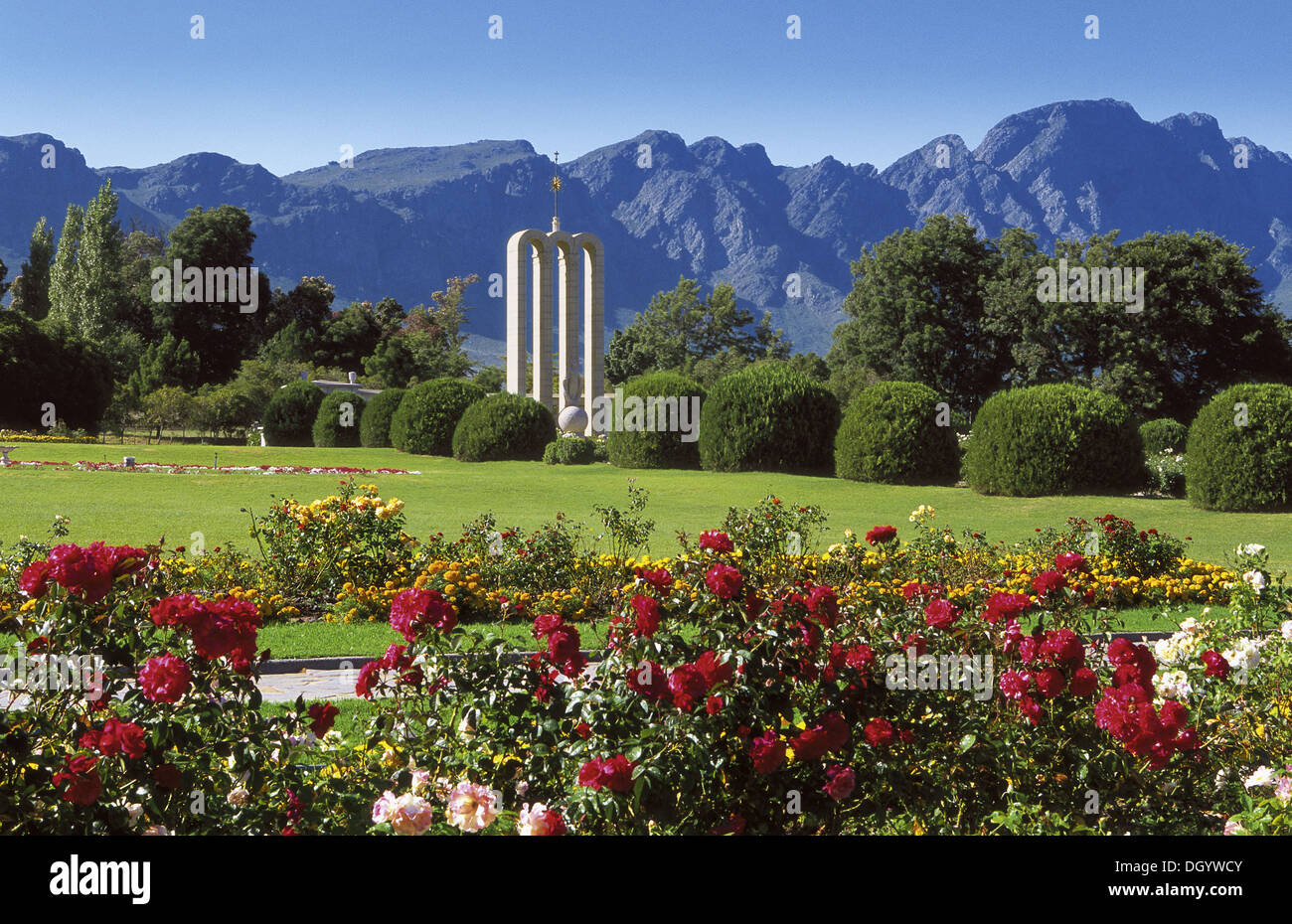 Huguenot Monument, Franschhoek, South Africa - Stock Image