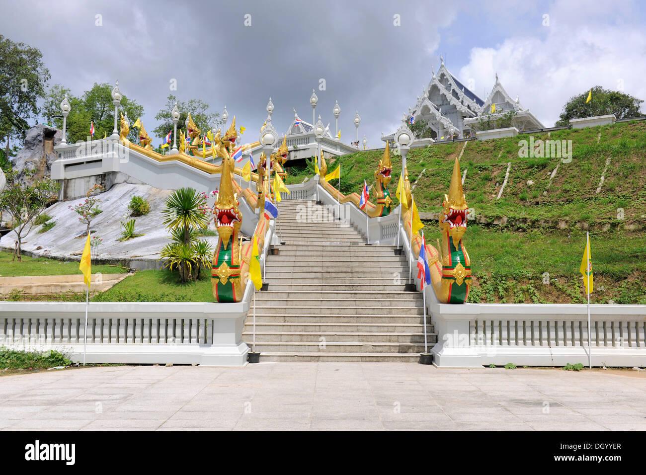Wat Tham Sua Monastery in Krabi Town, Krabi, Thailand, Asia - Stock Image