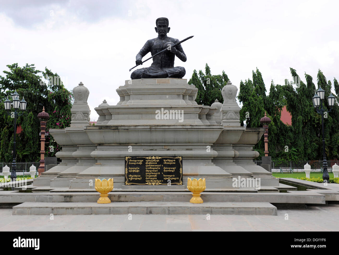 Statue of Krom Ngoy statue in Phnom Penh, Cambodia, Asia - Stock Image