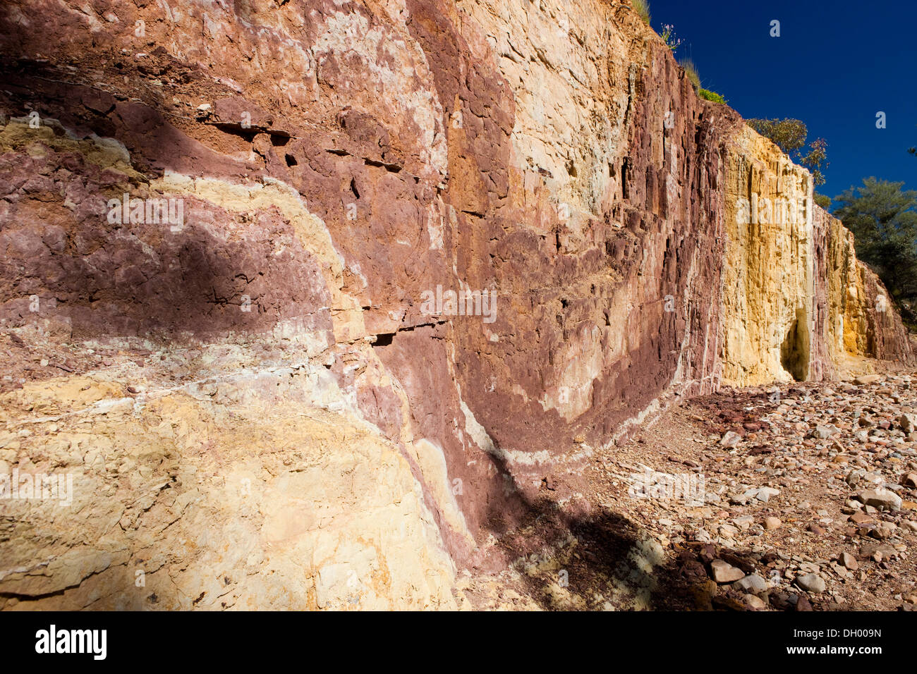 Ochre Pits, West MacDonnell National Park, Northern Territory, Australia - Stock Image