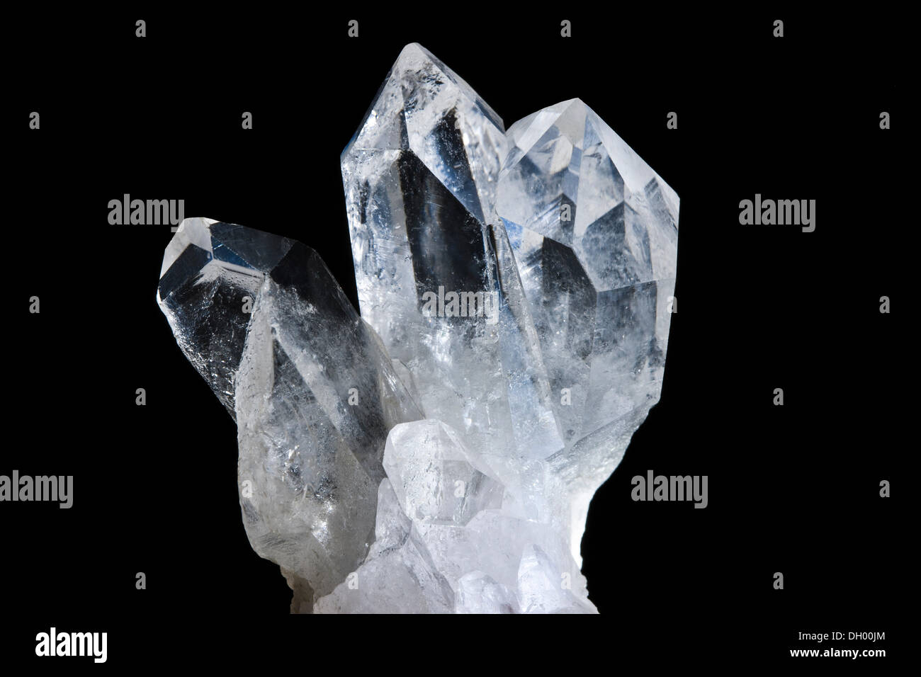 Rock crystal, quartz, 4cm high and 4cm wide - Stock Image