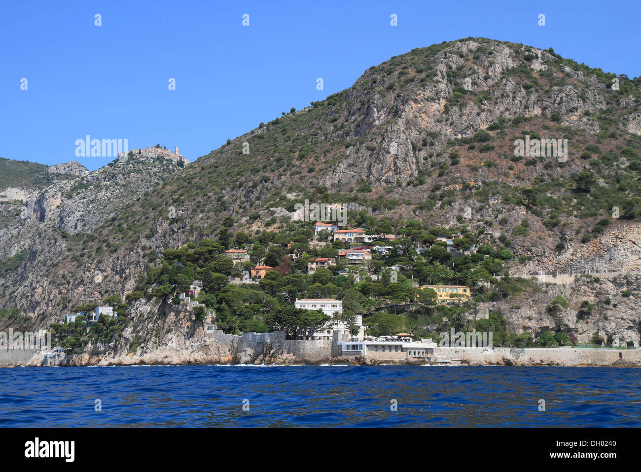 Image Bord De Mer eze village and eze bord de mer, seen from the sea, côte d