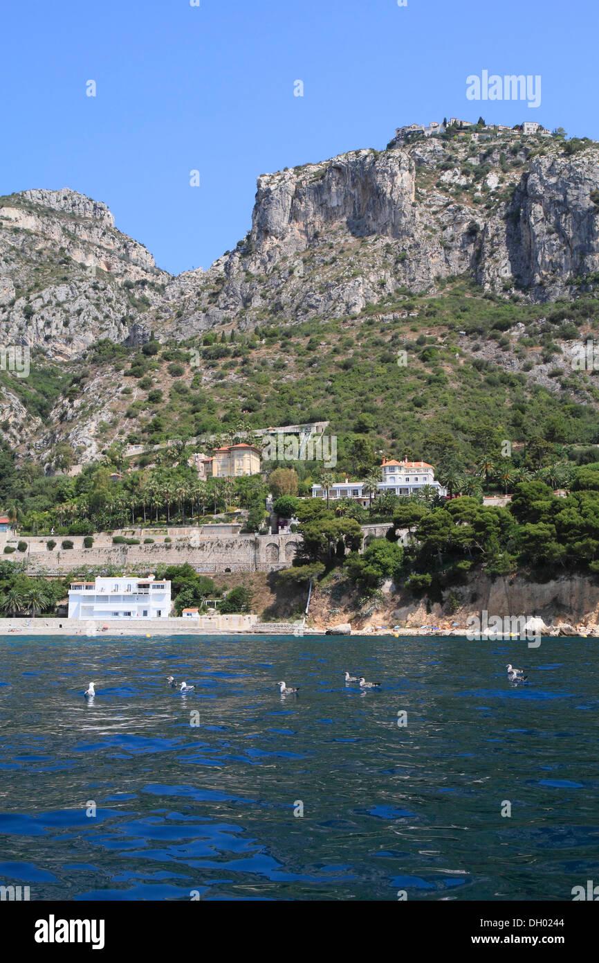 Image Bord De Mer eze village and eze bord de mer seen from the sea, côte d