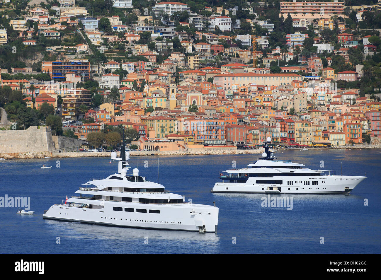 Vava II, a cruiser built by Pendennis Plus, formerly Devenport Yachts, length: 96 m, built in 2012, owned by Ernesto Bertarelli, - Stock Image