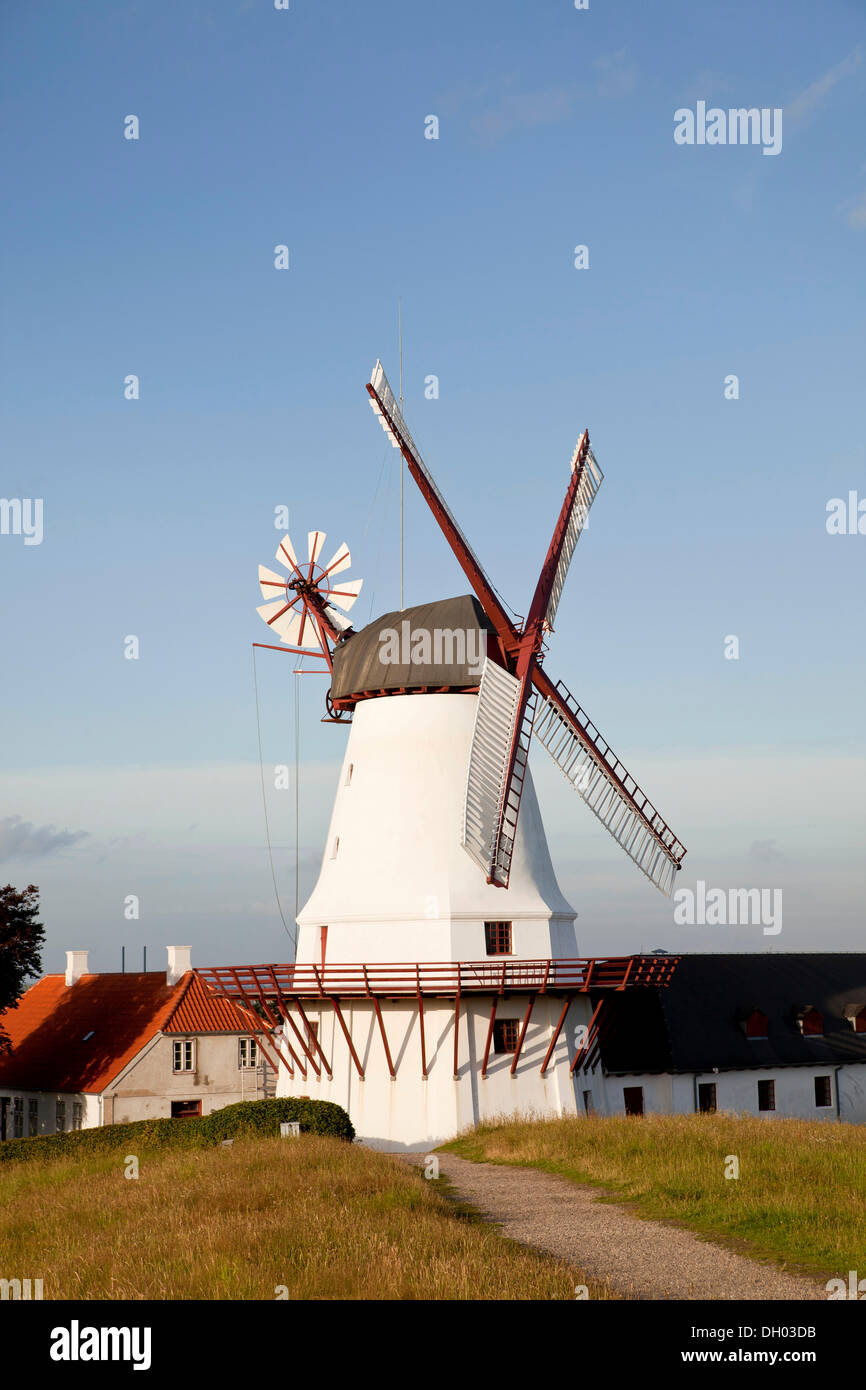 Dybbøl Mølle Windmill, museum and significant Danish memorial on the cultural heritage managed battlefields of 1864 near - Stock Image