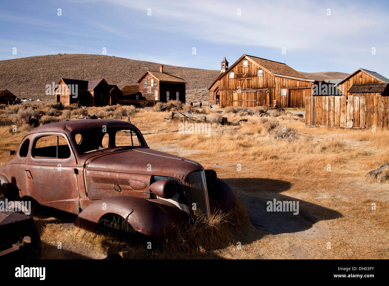 Ghost town of Bodie, Bodie, California, United States - Stock Image