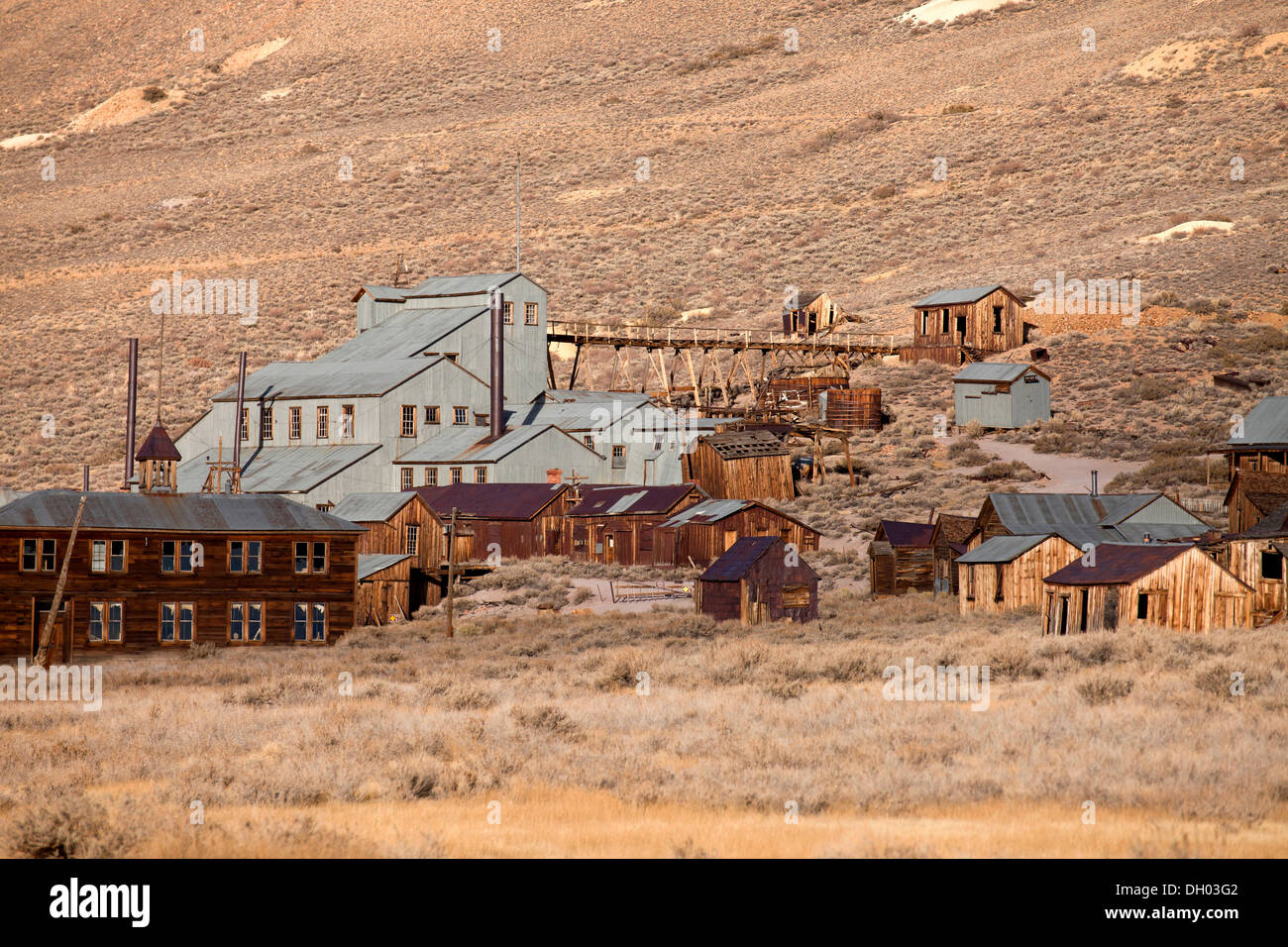 Ghost town of Bodie, Bodie, California, United States Stock Photo