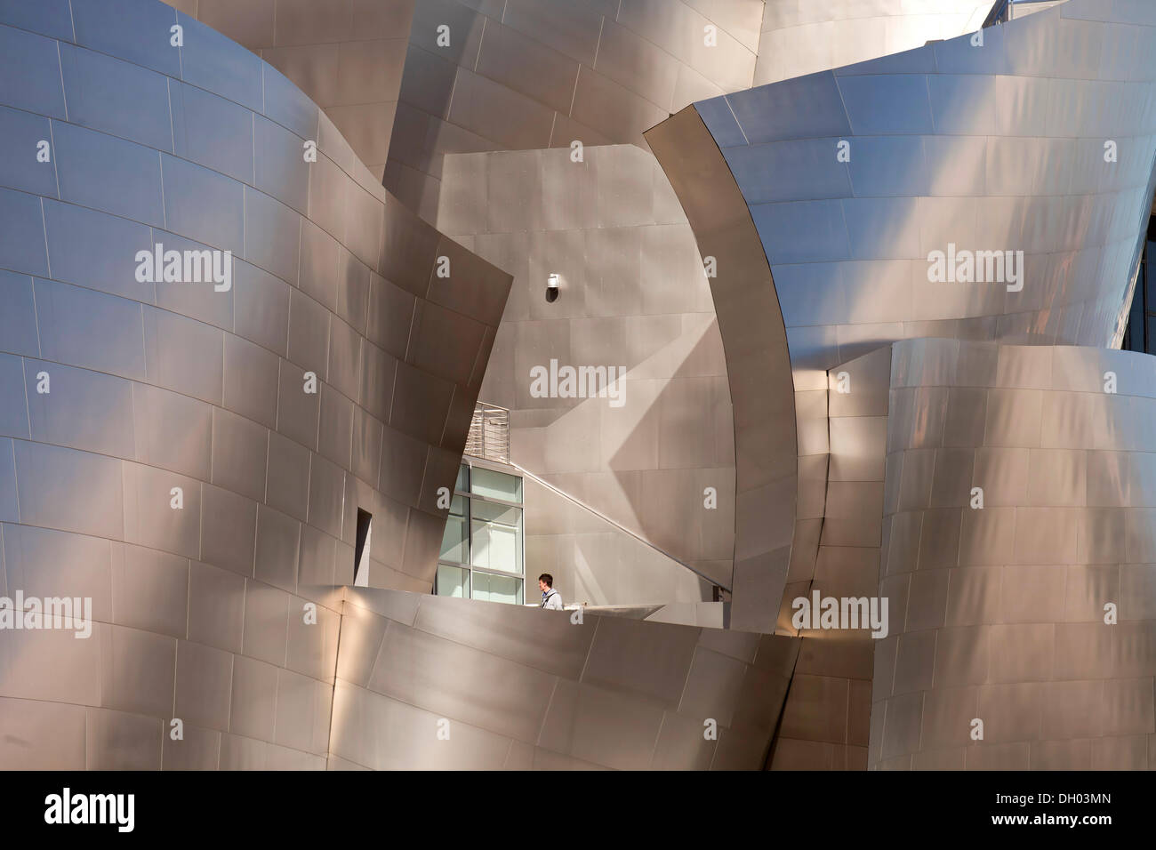 Walt Disney Concert Hall, modern architecture by Frank Gehry, Los Angeles, California, United States Stock Photo