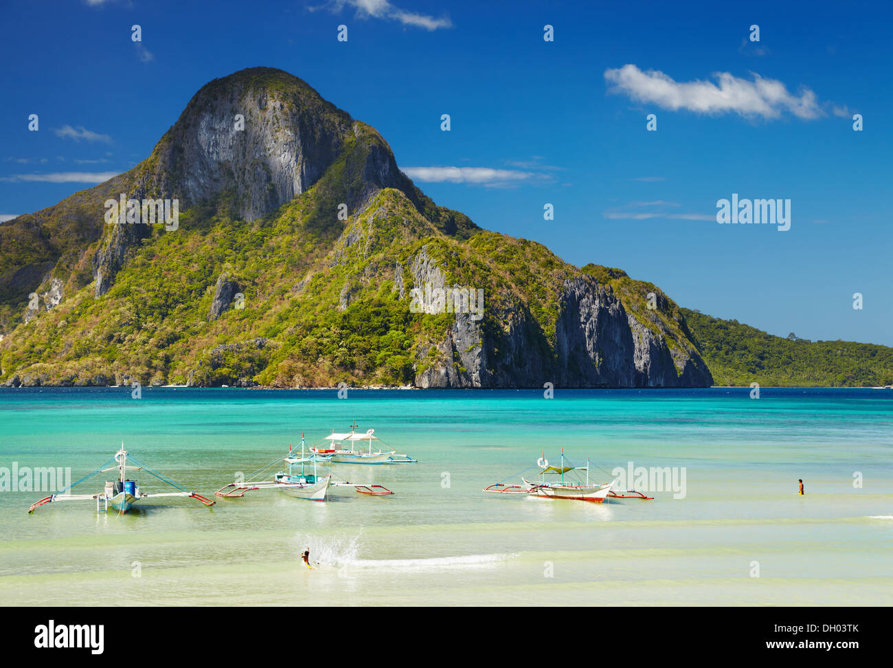 El Nido bay and Cadlao island, Palawan, Philippines - Stock Image