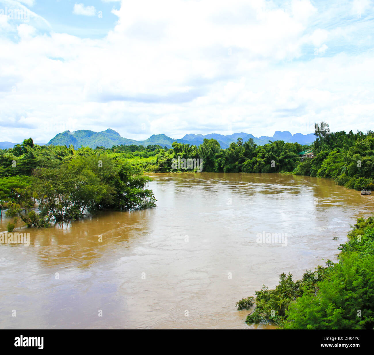 View on the River Kwai. Thailand - Stock Image